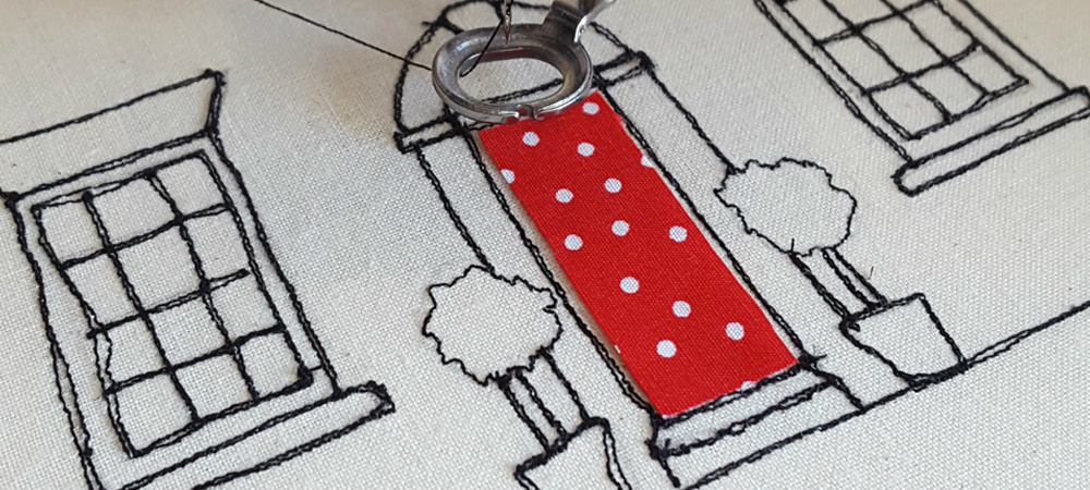 Banner freehand embroidery